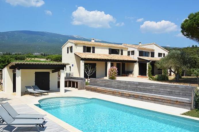 location saisonnière provence vaucluse mont ventoux luberon villa 12 personnes  région Mont Ventoux, piscine chauffée