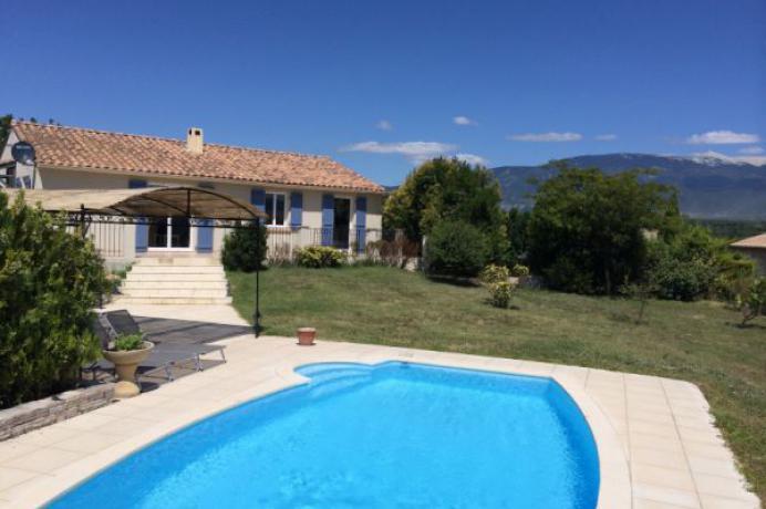 huur luxe vakantiehuis aan de Mont Ventoux, Provence voor 8 personen