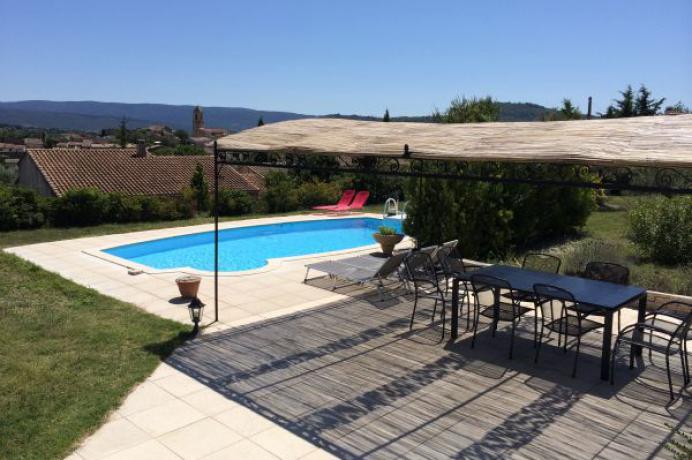 huis huren in de Provence, vakantie, grote omheinde tuin met zwembad