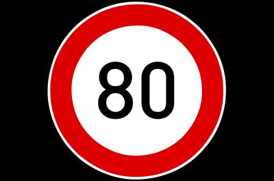 snelheidslimiet 80km/u in Frankrijk