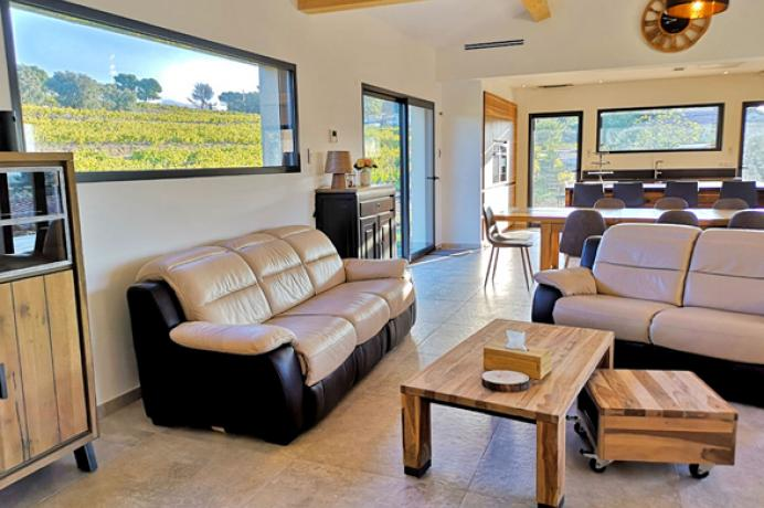 maison de vacances de luxe au pied du Ventoux pour 10 personnes avec clime et piscine chauffée
