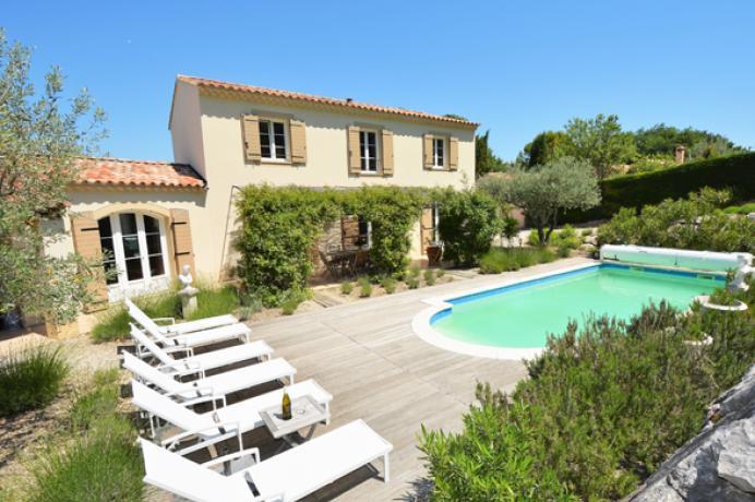 villa avec piscine chauffée à louer près de Vaison-la-Romaine (Provence)