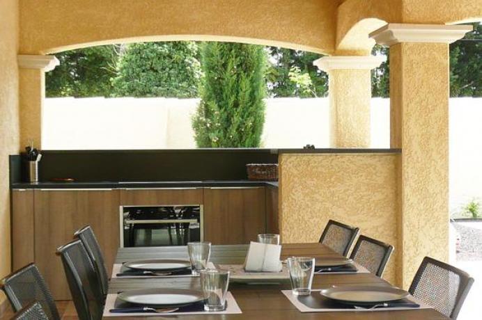 location saisonnière en Vaucluse, Provence, Aubignan, gîte pour 8 personnes