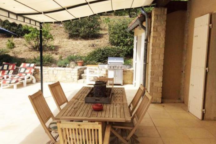 location gîte 8 personnes avec piscine chauffée et vue panoramique sur le Mont Ventoux, Vaucluse, Provence