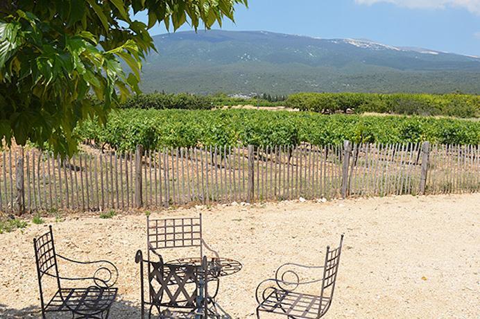 vastgoed kopen in Zuid-Frankrijk via Belgisch makelaarskantoor in Crillon-le-Brave, luxe villa met zwembad tussen de wijngaarden met prachtig uitzicht