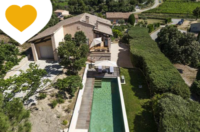 beautifully renovated villa for sale in the Drôme Provençale, with heated swimming pool and panoramic view of Mont Ventoux
